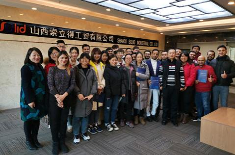 Warmly welcome foreign students and graduate students from North University of China come to our company to visit and study.